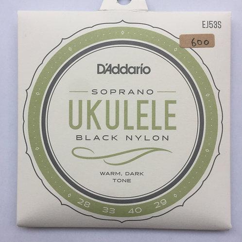 D'Addario EJ53S Black Nylon/Soprano