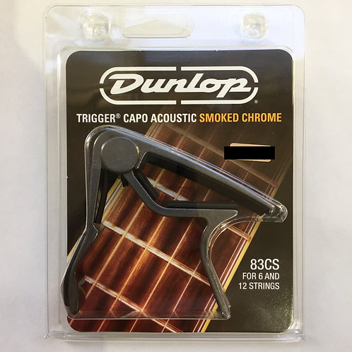 "Dunlop Trigger Capo Acoustic ""Smoked Crome"" 83CS"