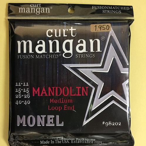 curt mangan Monel Mandolin Medium 11-40