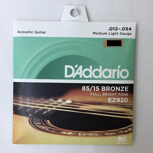 D'Addario EZ920 85/15 Bronze .012-.054
