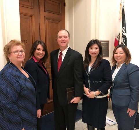 With Congressman Adam Schiff
