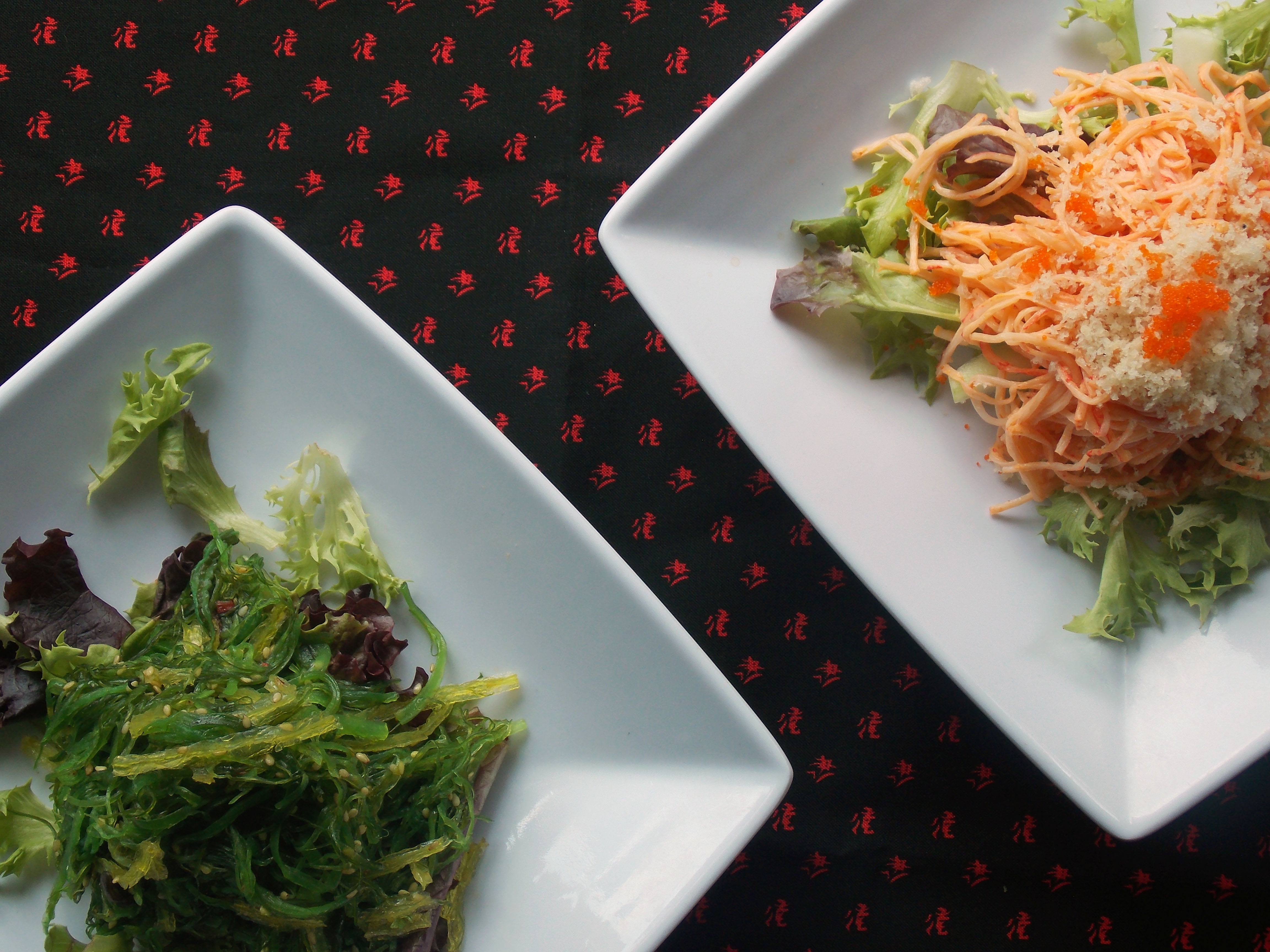 Seaweed Salad & Spicy Kani Salad