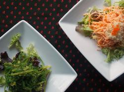 Seaweed Salad & Spicy Kani Salad