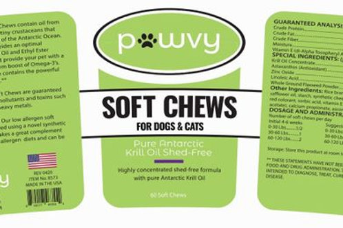 PAWVY PURE ANTARCTIC KRILL OIL SHED FREE CHEWS