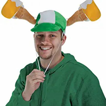 Pack of 6 Plush St. Patrick's Day Beer Mug Caps - Adult Sized