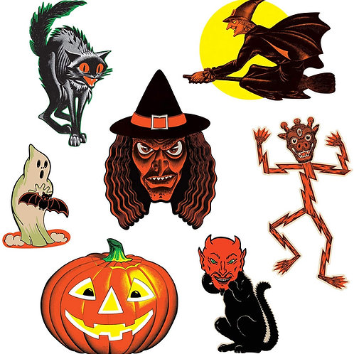 Beistle Halloween Decorations Party Favors, Assorted Vintage Halloween Classic