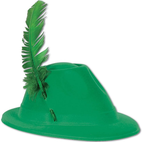 Pack of 48 Festive St. Patrick's Day Green Velour Alpine Party Hats