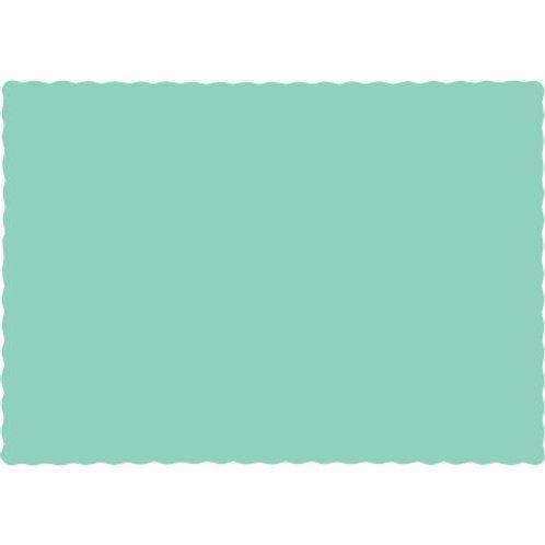 Color Paper Placemats, Mint Green (100 Count)