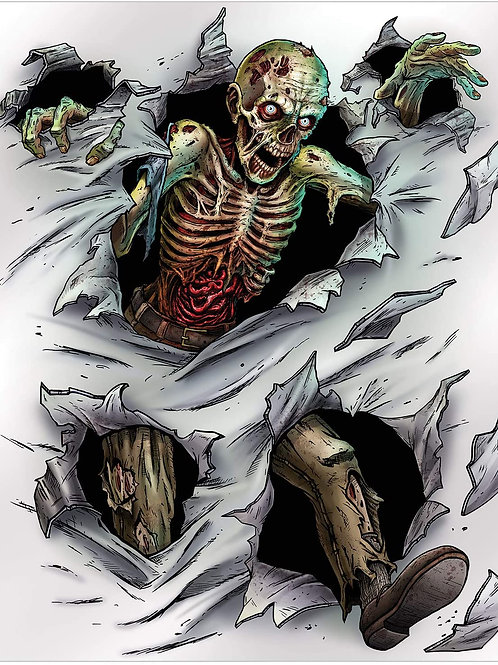 Beistle Halloween Decorations Party Favors, Zombie Printed Inst Mural 5 Feet x