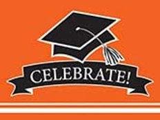 Graduation School Spirit Orange Color Printed Party Invitations, Box of 75 Party