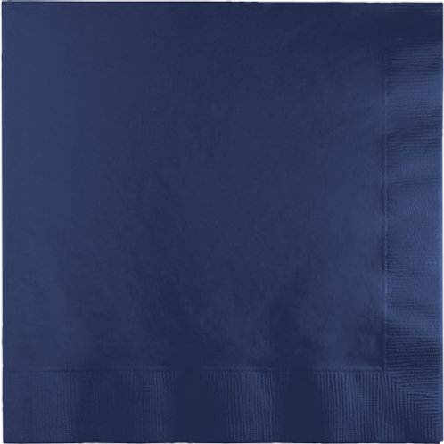 Creative Converting 600 Count Touch of Color Luncheon Paper Napkins, Navy