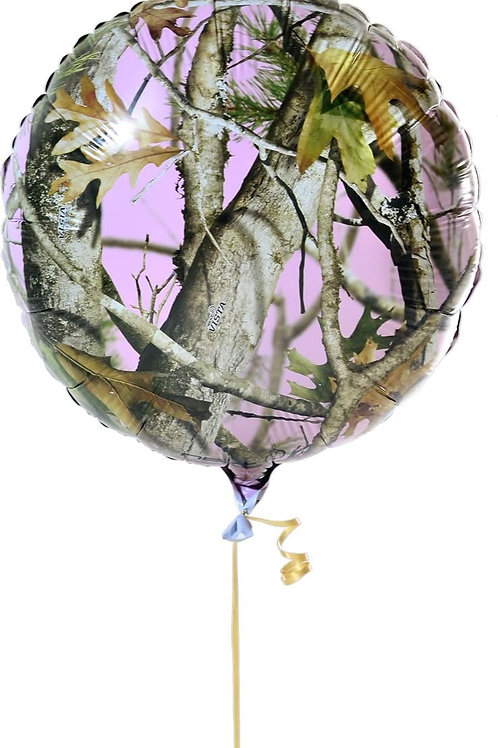 Club Pack Pink Vista Camo Printed 18in Mylar Balloons Box of 12