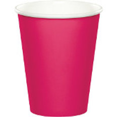 Club Pack of 240 Hot Magenta Pink Disposable Paper Hot and Cold Party Tumbler C