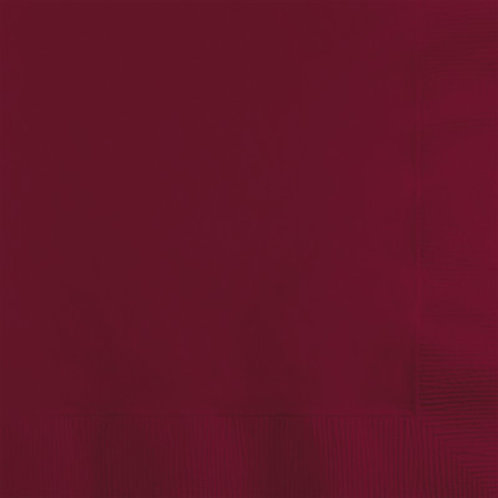Creative Converting 600 Count Touch of Color Luncheon Paper Napkins,Burgundy
