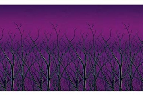 Pack of 6 Spooky Forest Treetops at Dusk Backdrop Halloween Party Decorations 3
