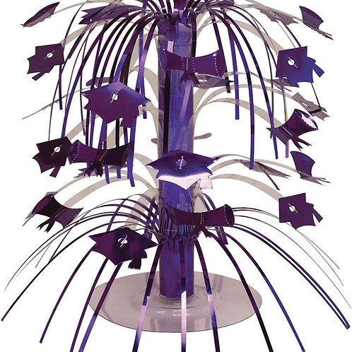 """Purple Mini Cascade Centerpiece Graduation Party Decorations 8.5"""""""