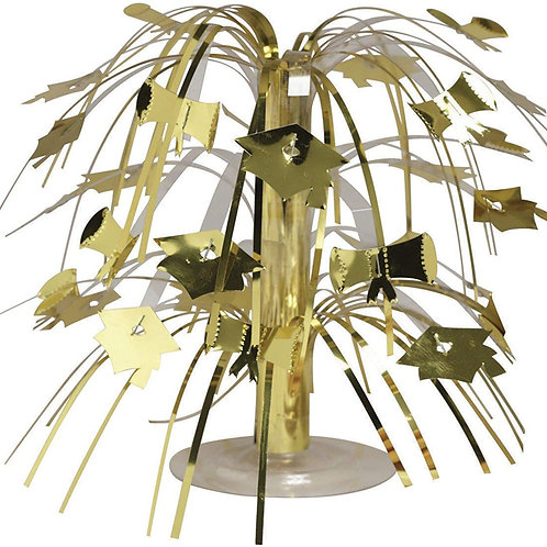 "Pack of 12 Gold Mini Cascade Centerpiece Graduation Party Decorations 8.5"""