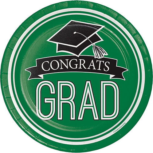 Graduation, 180-Count Sturdy Style Small/Dessert Paper Plates