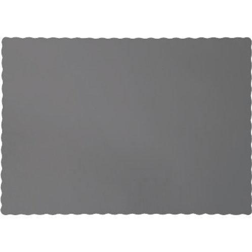 Color Paper Placemats, Grey  (100 Count)