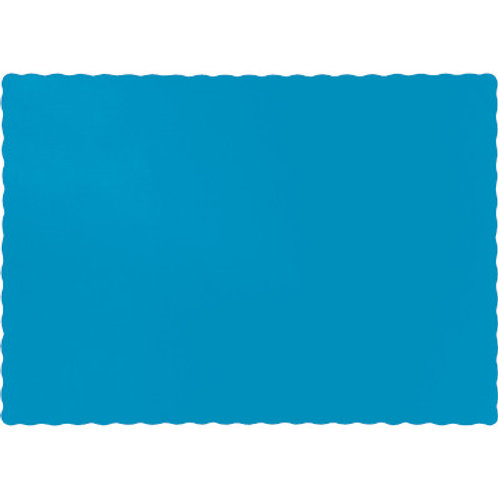 Color Paper Placemats, Turquoise (100 Count)