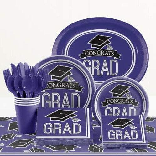 Baxters Party Bundle Graduation Party, Purple Color Bundle for 18 People, Box o