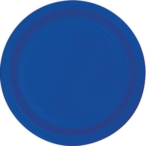 Cobalt Blue Disposable Paper Party Plates 7
