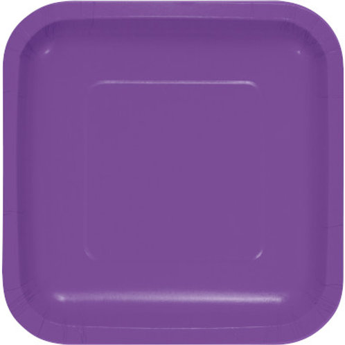 Creative Converting 9 Inch Square Paper Plates, Pack of 18 Plates