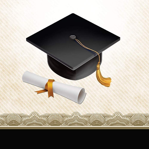 Club Pack of 192 Cap and Gown Disposable Paper Graduation Party Beverage Napkin