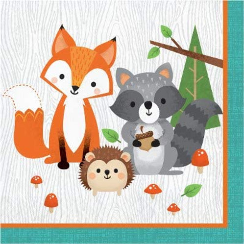 Woodland Animal Creatures Party Supplies, Wild One Birthday Decorations Luncheon