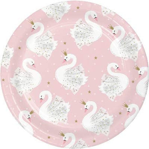 Stylish Swan Birthday Party Decorations, Pink and Gold Swan Party Supplies 7 Inc