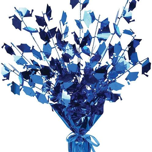 "Club Pack of 12 Blue Foil Spray Graduate Cap Gleam 'N Burst Centerpieces 15"""