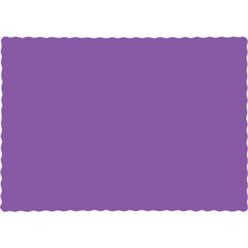 Creative Converting Touch of Color Paper Placemats, Amethyst Purple (100 Count)