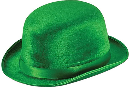 Club Pack of 12 Green Vel-Felt St. Patrick's Day Derby Hat - Adult Sized