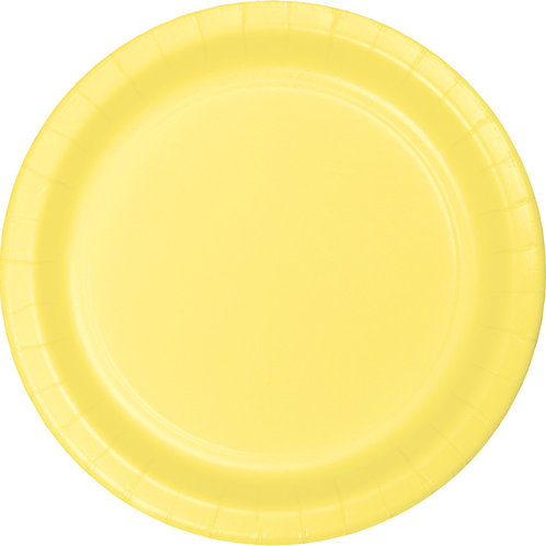 """Mimosa Yellow Disposable Paper Party Lunch Plates 7"""""""