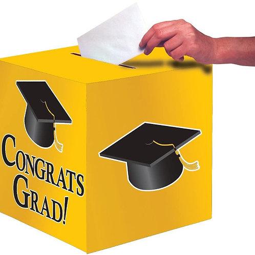 Club Pack of 6 School Bus Yellow Congrats Grad Decorative Graduation Party Card