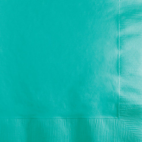 Creative Converting 600 Count Touch of Color Beverage Paper Napkins, Teal