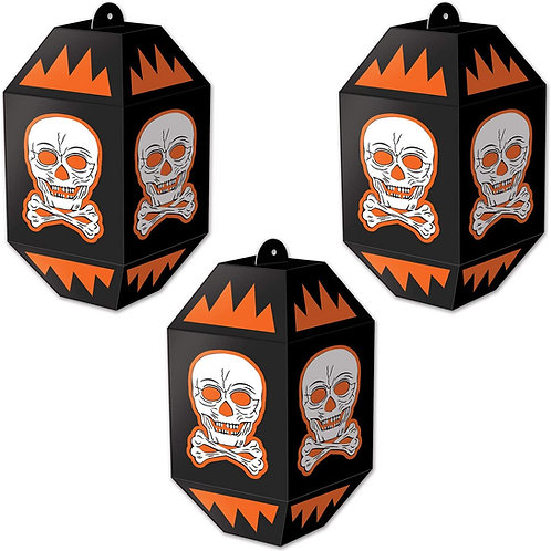 Beistle Halloween Decorations Party Favors, Vintage Halloween Skull Paper Lante