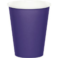 Club Pack of 240 Purple Disposable Paper Hot and Cold Party Tumbler Cups 9 oz.