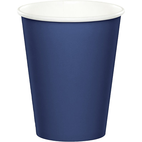 Club Pack of 240 Navy Blue Disposable Paper Hot and Cold Party Tumbler Cups 9 o