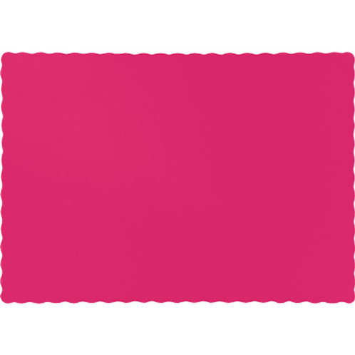 Color Paper Placemats, Hot Magenta (100 Count)