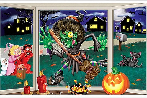 Insta-View Wall Decoration Halloween Crashing witch Removable and reusable Recom