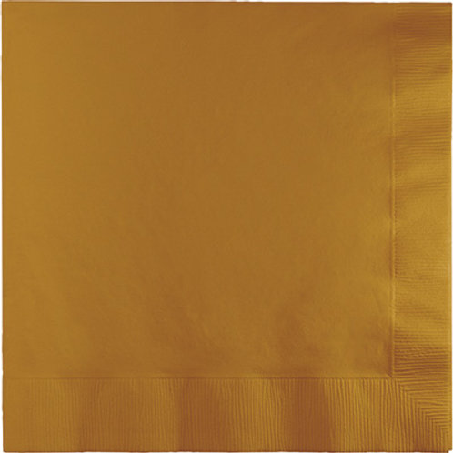 Creative Converting 600 Count Touch of Color Beverage Paper Napkins,Gold