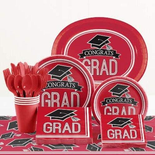 Baxters Party Bundle Graduation Party, Red Color Bundle for 18 People, Box of 2