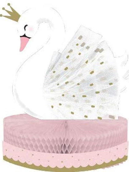 Stylish Swan Birthday Party Decorations, Pink and Gold Swan Party Supplies Cent
