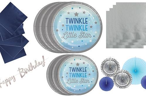 Twinkle Little Star Boy Birthday Bundle Party Supplies