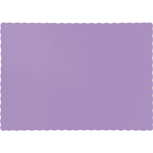 Color Paper Placemats, Lavender (100 Count)