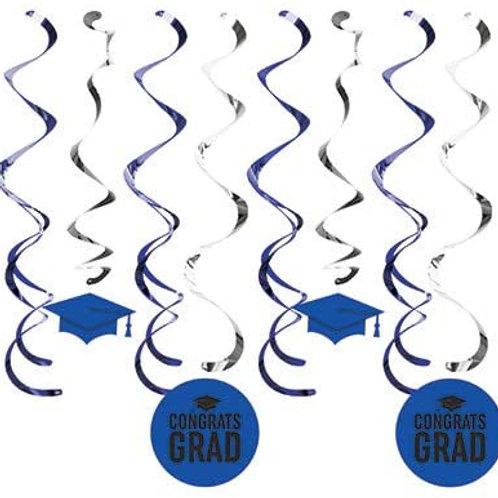 Pack Graduation Party Decoration Cobalt Blue School Co