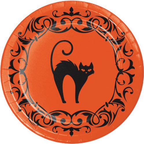 Creative Converting Halloween Symbols, 7 Inch Round Paper Plates, Box of 96