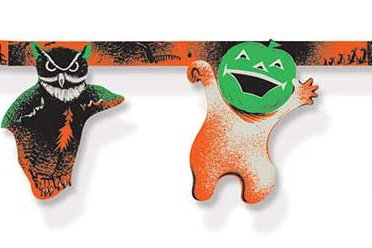 Beistle Halloween Decorations Party Favors, Vintage Halloween Streamer 10 Inch x