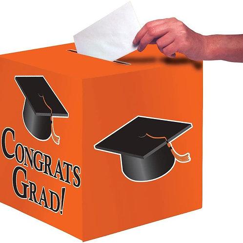 Club Pack of 6 Sun-Kissed Orange Congrats Grad Decorative Graduation Party Card